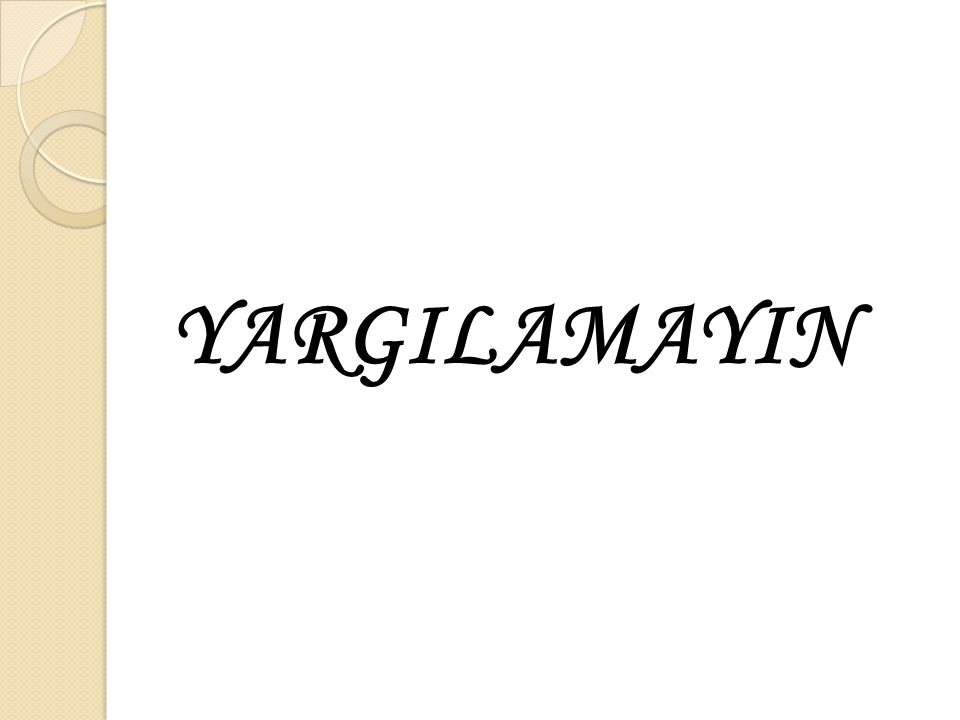 YARGILAMAYIN
