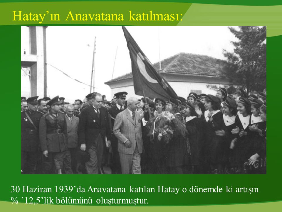 Hatay'ın Anavatana katılması: