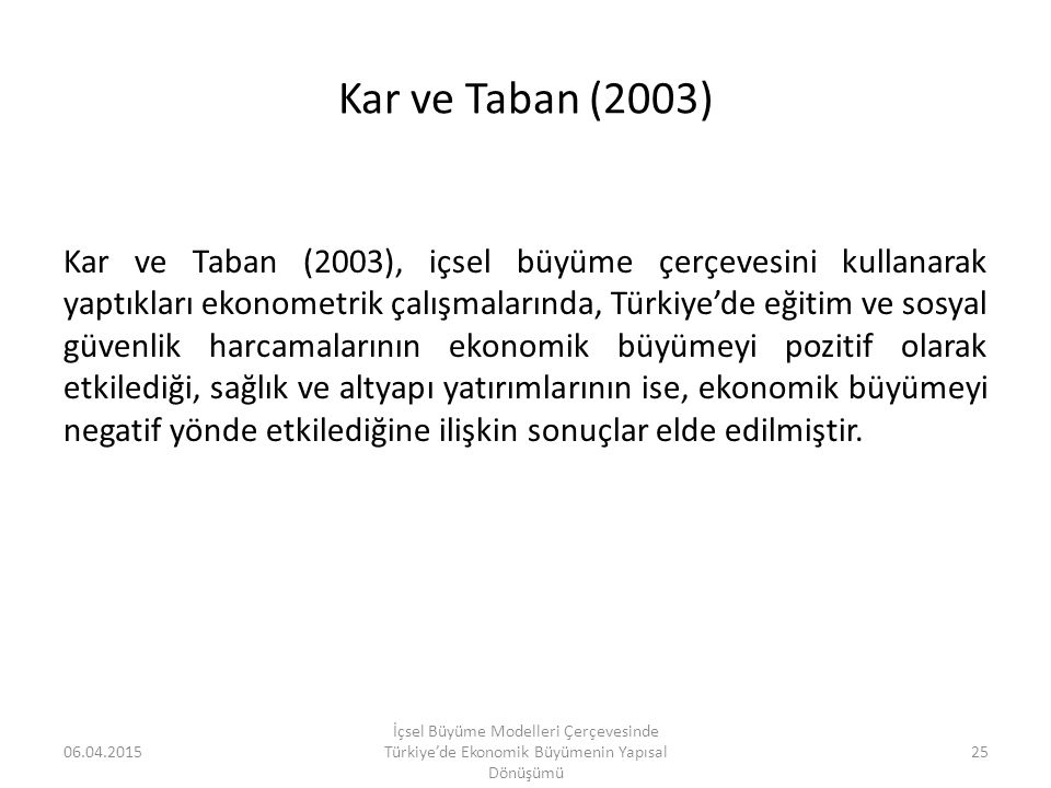 Kar ve Taban (2003)