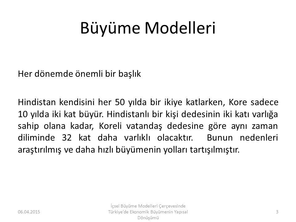 Büyüme Modelleri