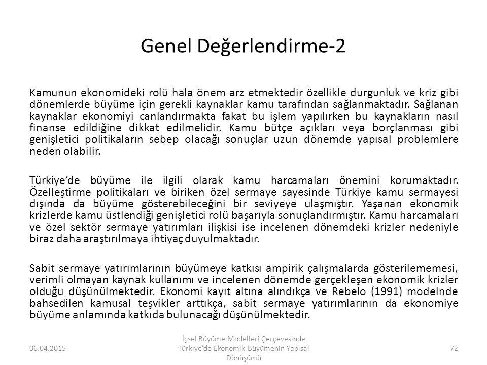 Genel Değerlendirme-2