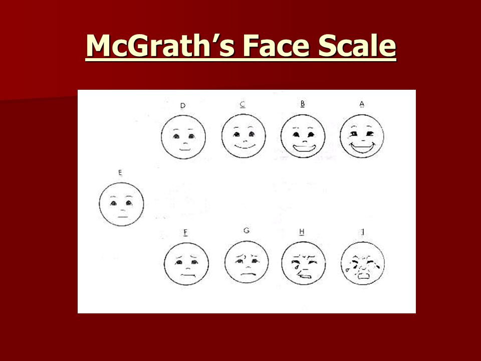 McGrath's Face Scale