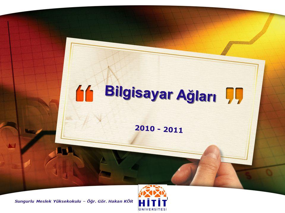 Bilgisayar Ağları 2010 - 2011 Sungurlu Meslek Yüksekokulu – Öğr. Gör. Hakan KÖR