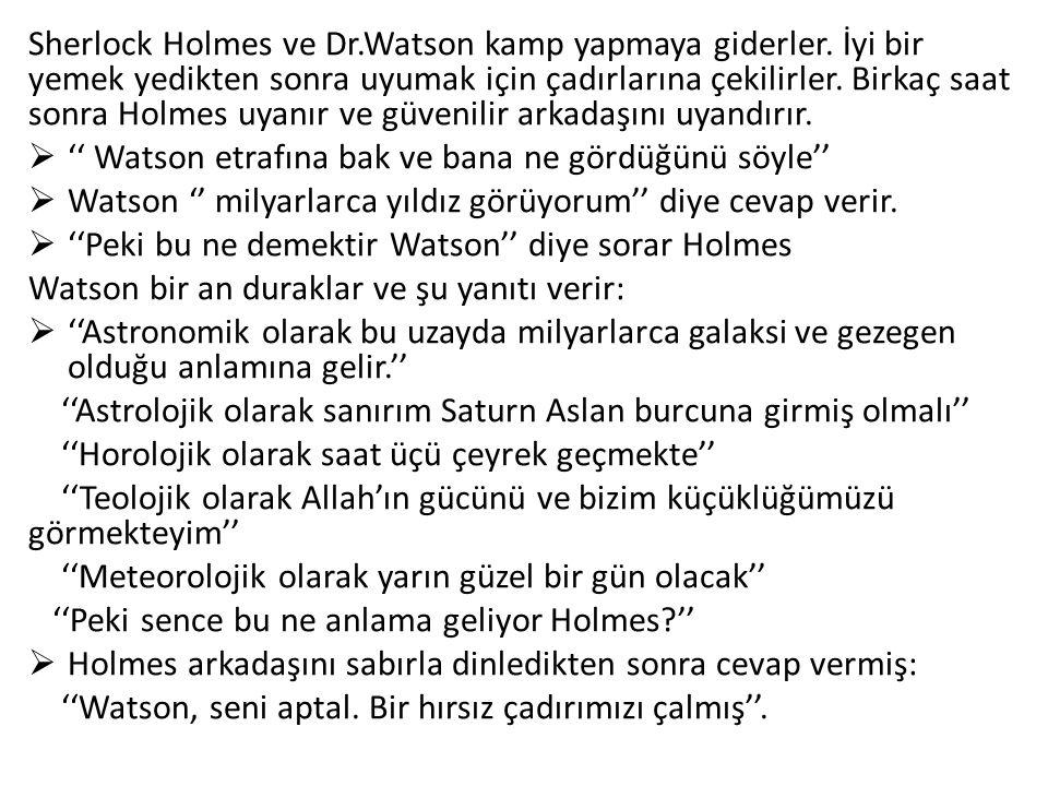 Sherlock Holmes ve Dr. Watson kamp yapmaya giderler