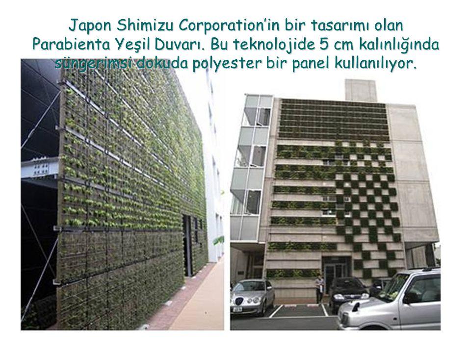 Japon Shimizu Corporation'in bir tasarımı olan Parabienta Yeşil Duvarı