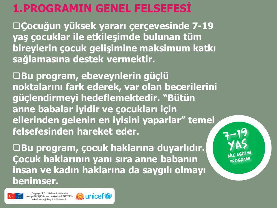 1.PROGRAMIN GENEL FELSEFESİ