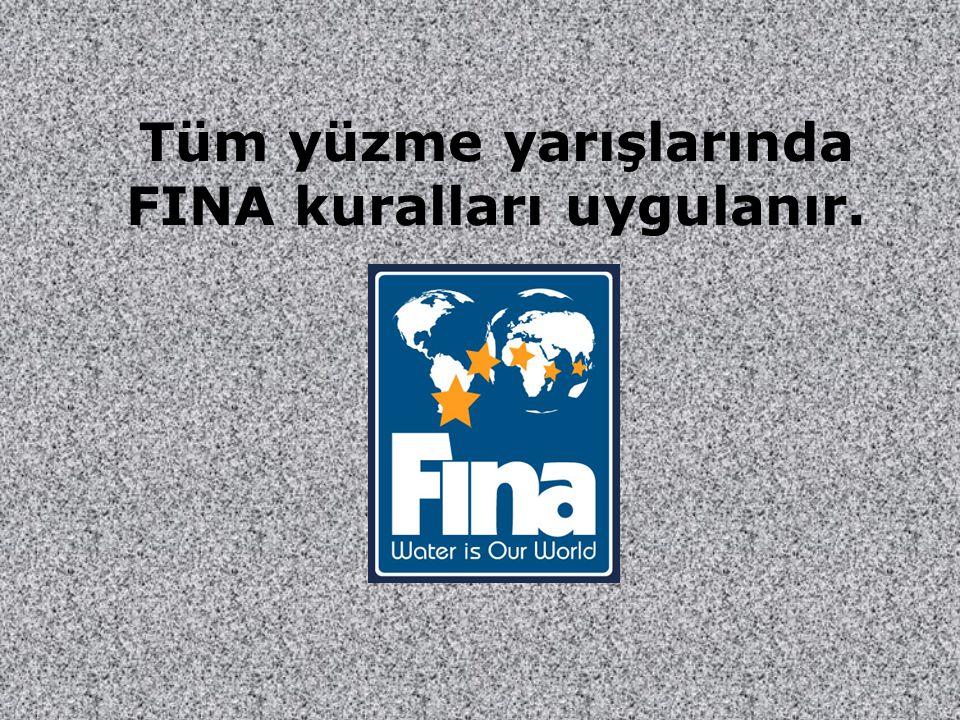 Tüm yüzme yarışlarında FINA kuralları uygulanır.