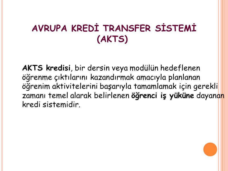 AVRUPA KREDİ TRANSFER SİSTEMİ (AKTS)