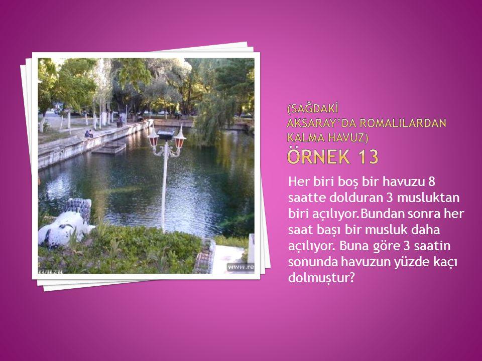(SAĞDAKİ Aksaray'da romalIlardan kalma havuz) Örnek 13