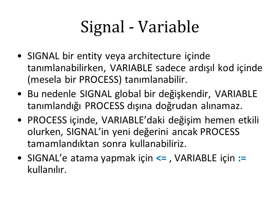 Signal - Variable