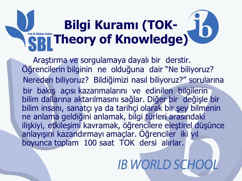 Bilgi Kuramı (TOK-Theory of Knowledge)