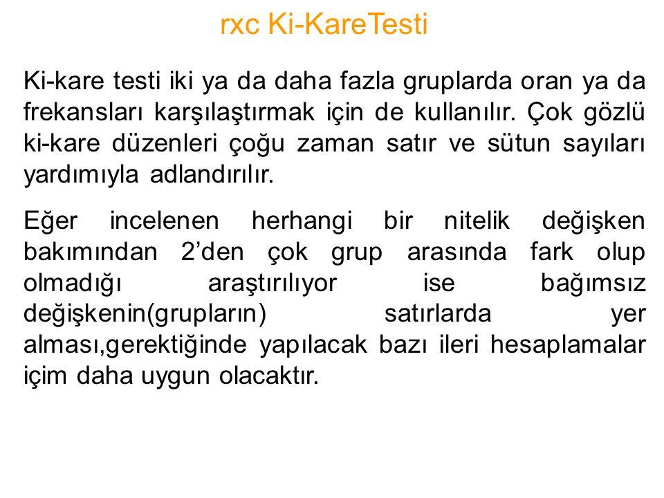 rxc Ki-KareTesti