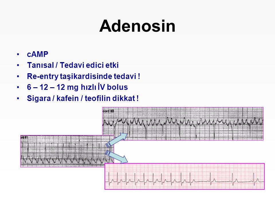 Adenosin cAMP Tanısal / Tedavi edici etki