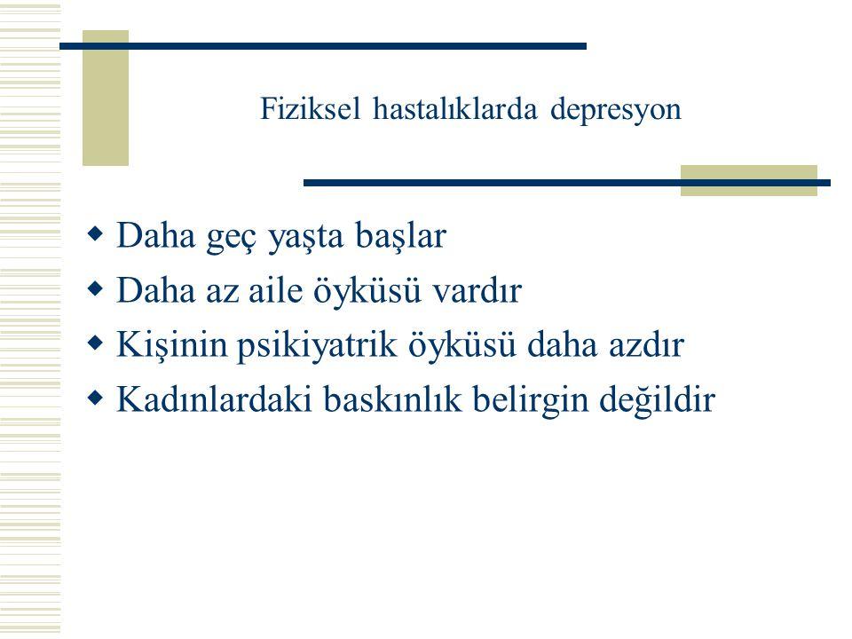 Fiziksel hastalıklarda depresyon