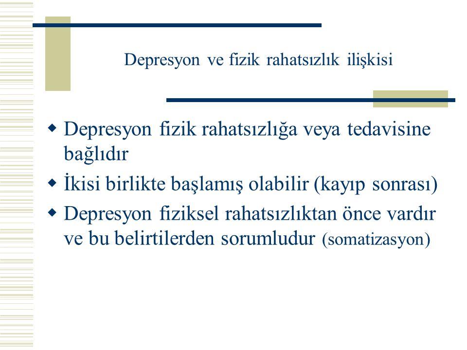 Depresyon ve fizik rahatsızlık ilişkisi