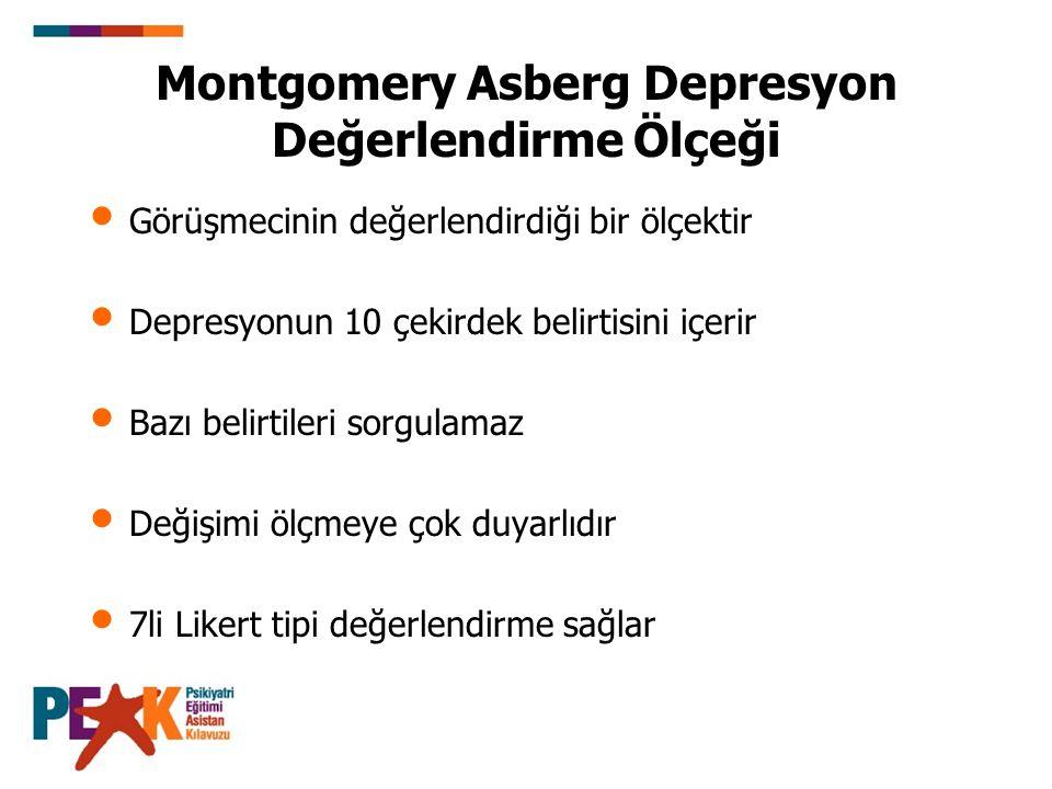 Montgomery Asberg Depresyon Değerlendirme Ölçeği