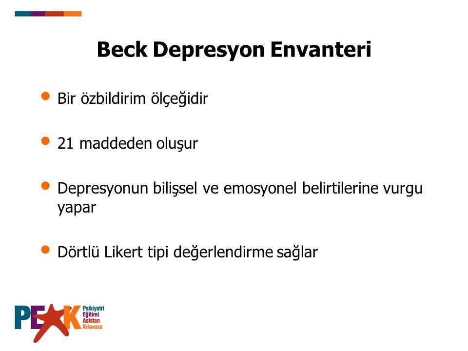 Beck Depresyon Envanteri
