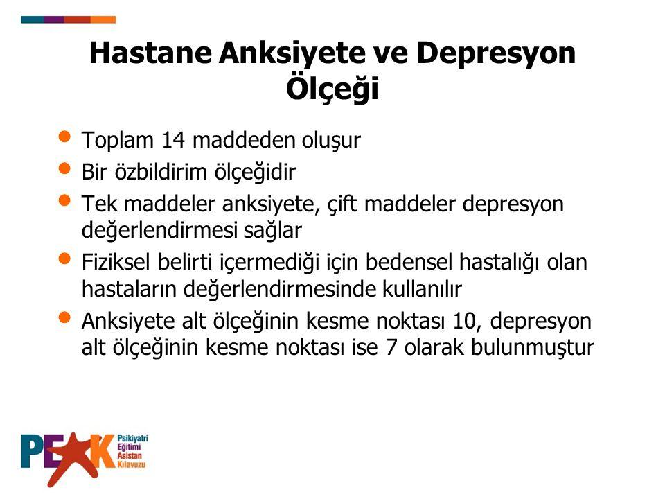 Hastane Anksiyete ve Depresyon Ölçeği
