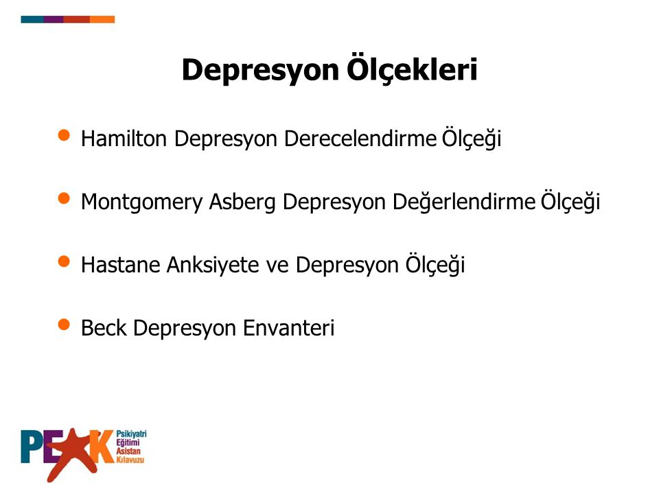 Depresyon Ölçekleri Hamilton Depresyon Derecelendirme Ölçeği
