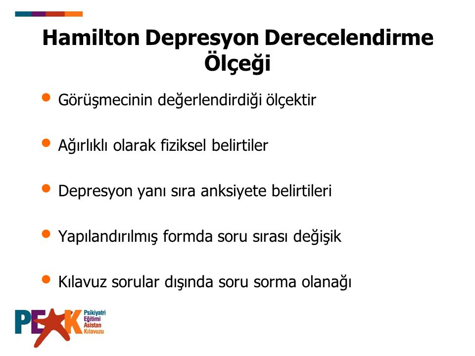 Hamilton Depresyon Derecelendirme Ölçeği