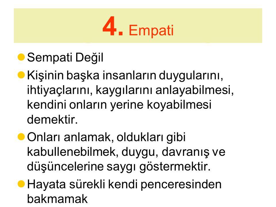 4. Empati Sempati Değil.