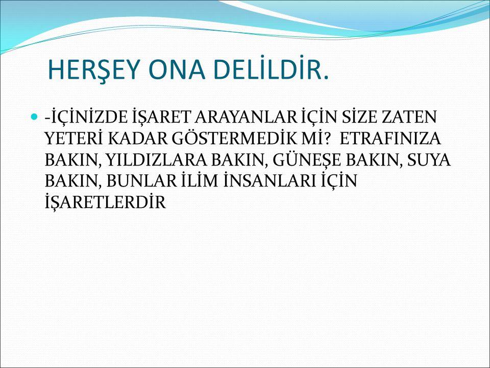HERŞEY ONA DELİLDİR.