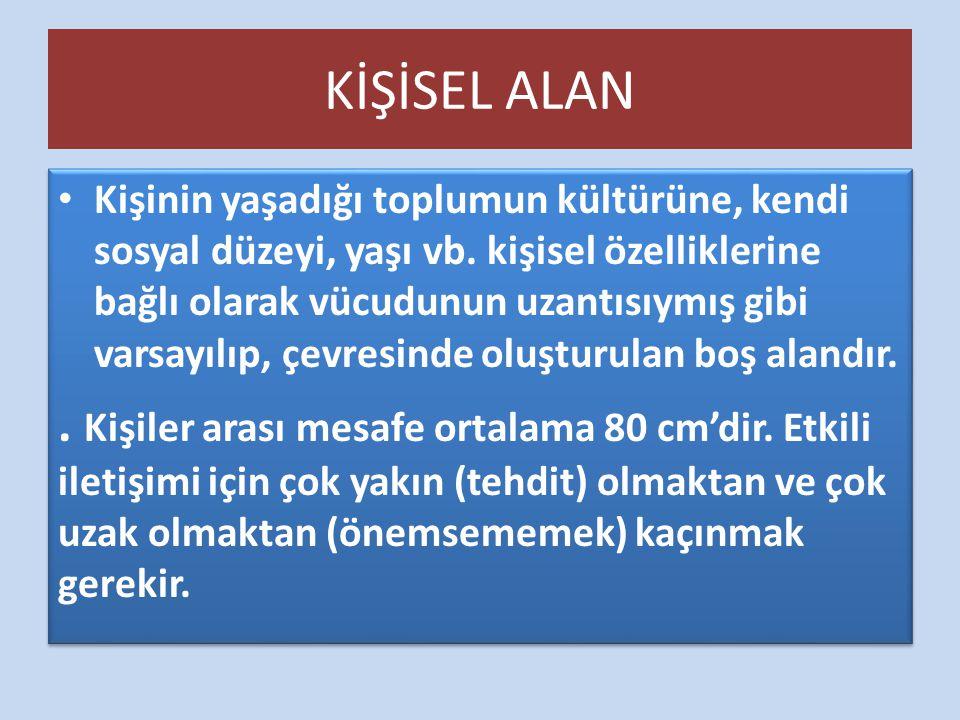 KİŞİSEL ALAN
