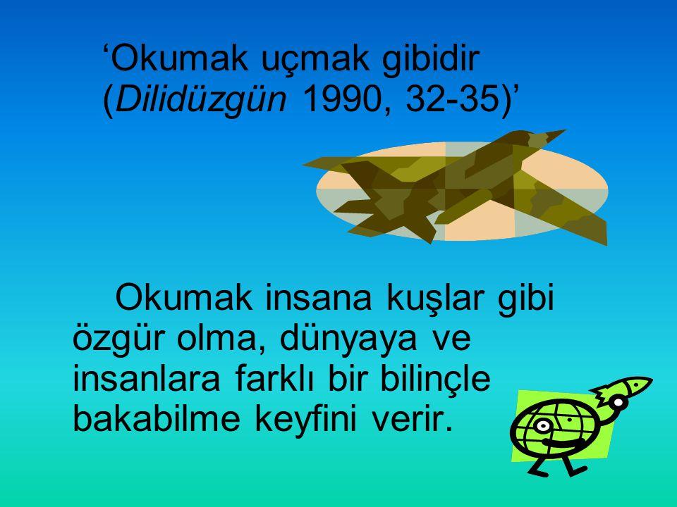 'Okumak uçmak gibidir (Dilidüzgün 1990, 32-35)'