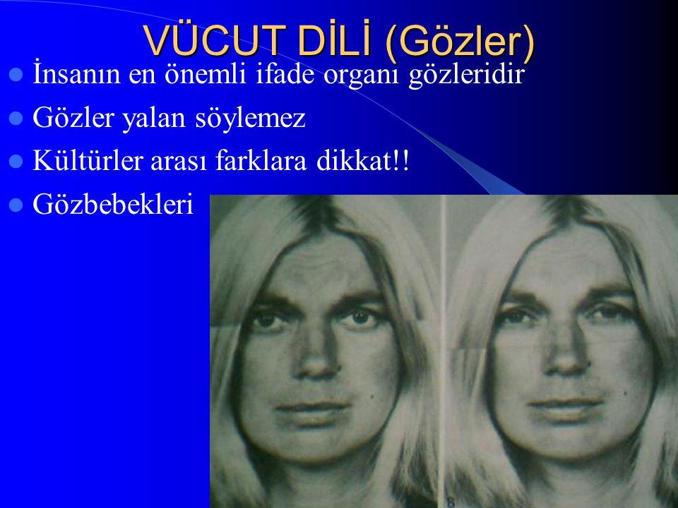 VÜCUT DİLİ (Gözler) İnsanın en önemli ifade organı gözleridir