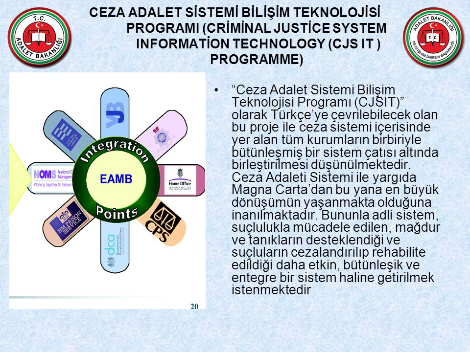CEZA ADALET SİSTEMİ BİLİŞİM TEKNOLOJİSİ PROGRAMI (CRİMİNAL JUSTİCE SYSTEM INFORMATİON TECHNOLOGY (CJS IT ) PROGRAMME)