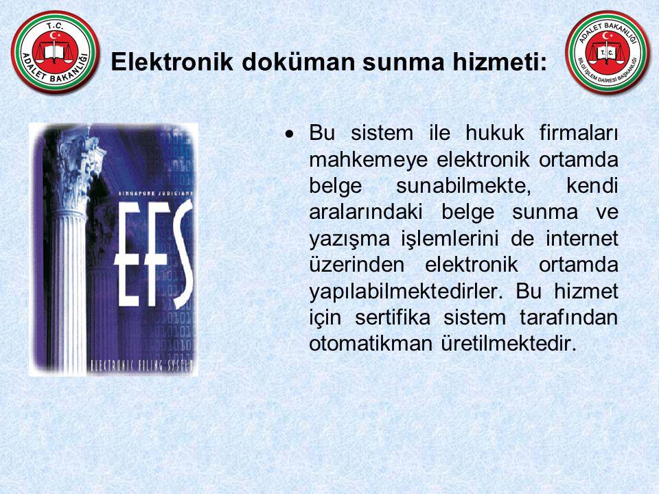 Elektronik doküman sunma hizmeti: