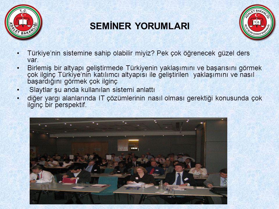 SEMİNER YORUMLARI Türkiye'nin sistemine sahip olabilir miyiz Pek çok öğrenecek güzel ders var.