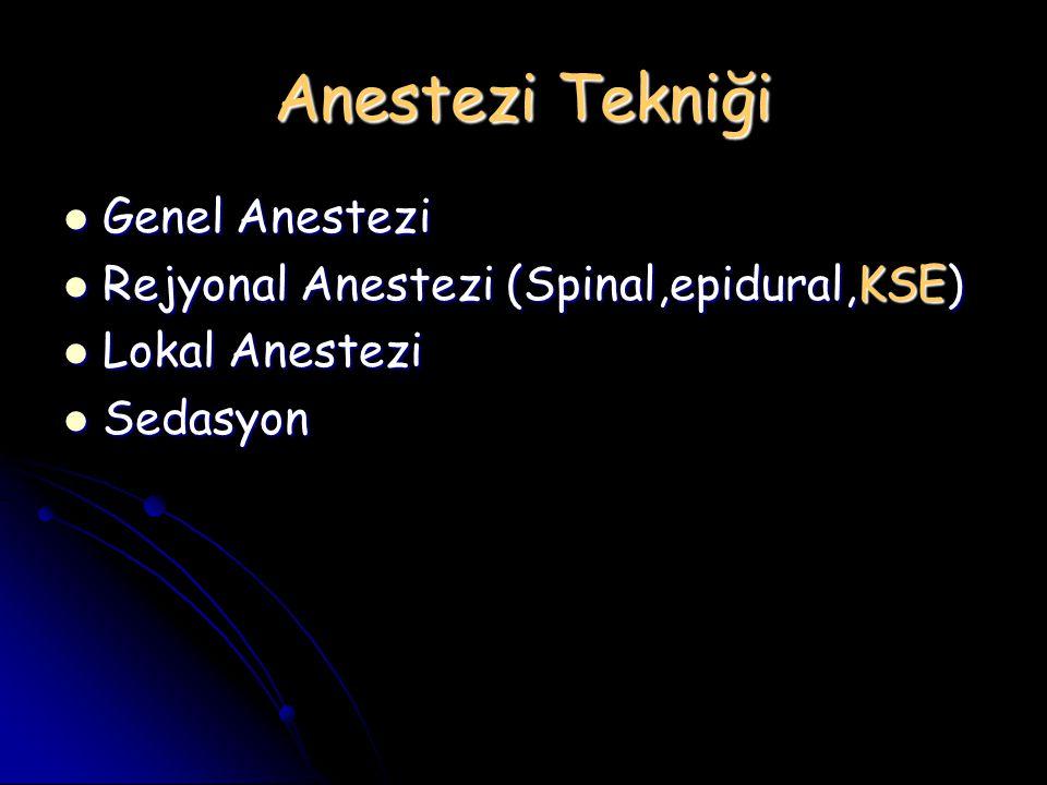 Anestezi Tekniği Genel Anestezi