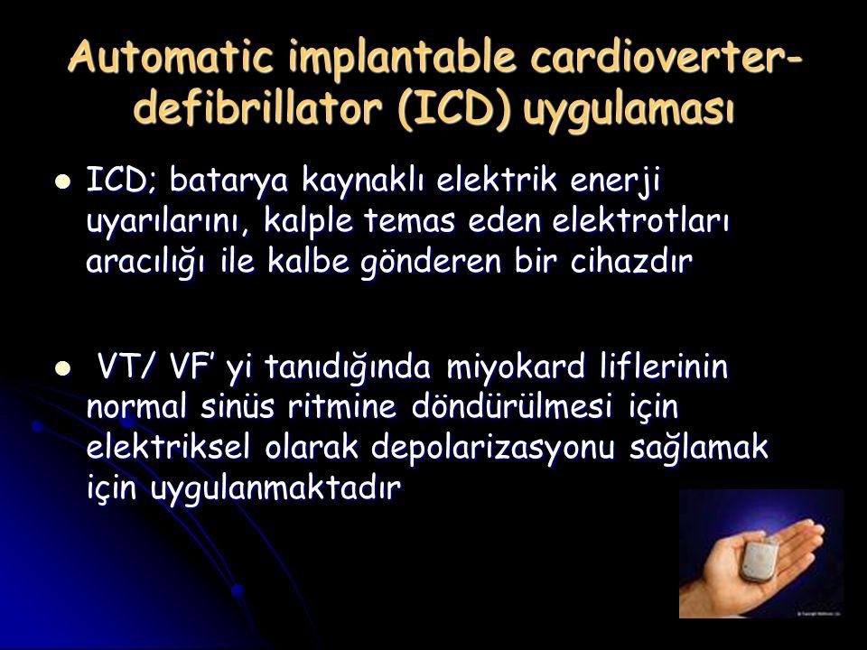 Automatic implantable cardioverter-defibrillator (ICD) uygulaması