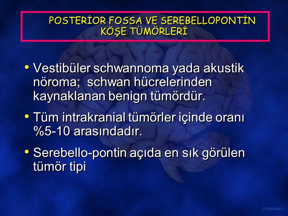 POSTERİOR FOSSA VE SEREBELLOPONTİN KÖŞE TÜMÖRLERİ