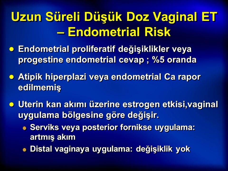 Uzun Süreli Düşük Doz Vaginal ET – Endometrial Risk