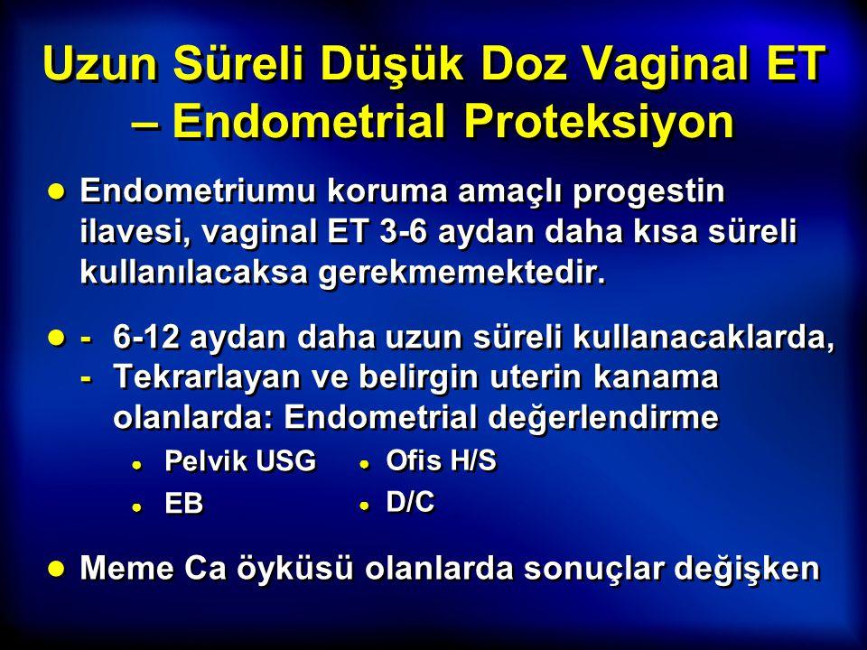 Uzun Süreli Düşük Doz Vaginal ET – Endometrial Proteksiyon