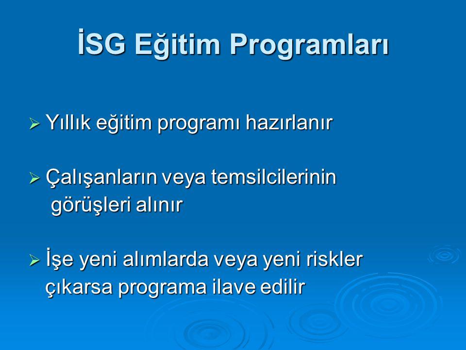İSG Eğitim Programları