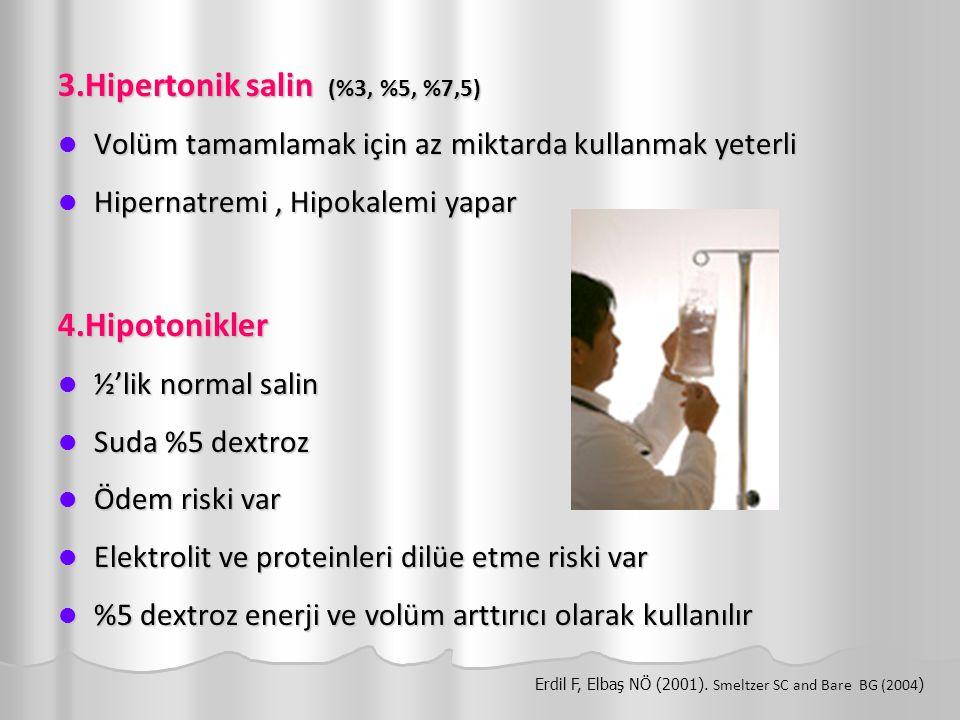 3.Hipertonik salin (%3, %5, %7,5)