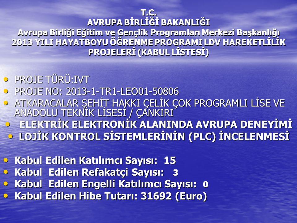 LOJİK KONTROL SİSTEMLERİNİN (PLC) İNCELENMESİ