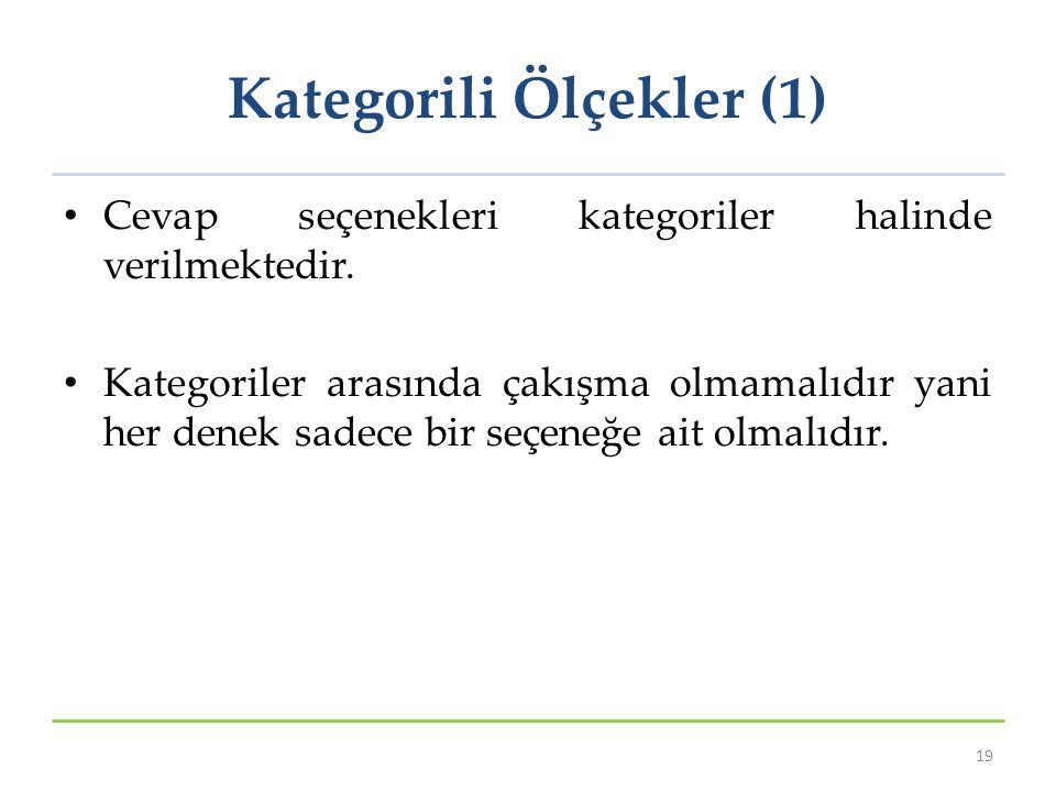 Kategorili Ölçekler (1)