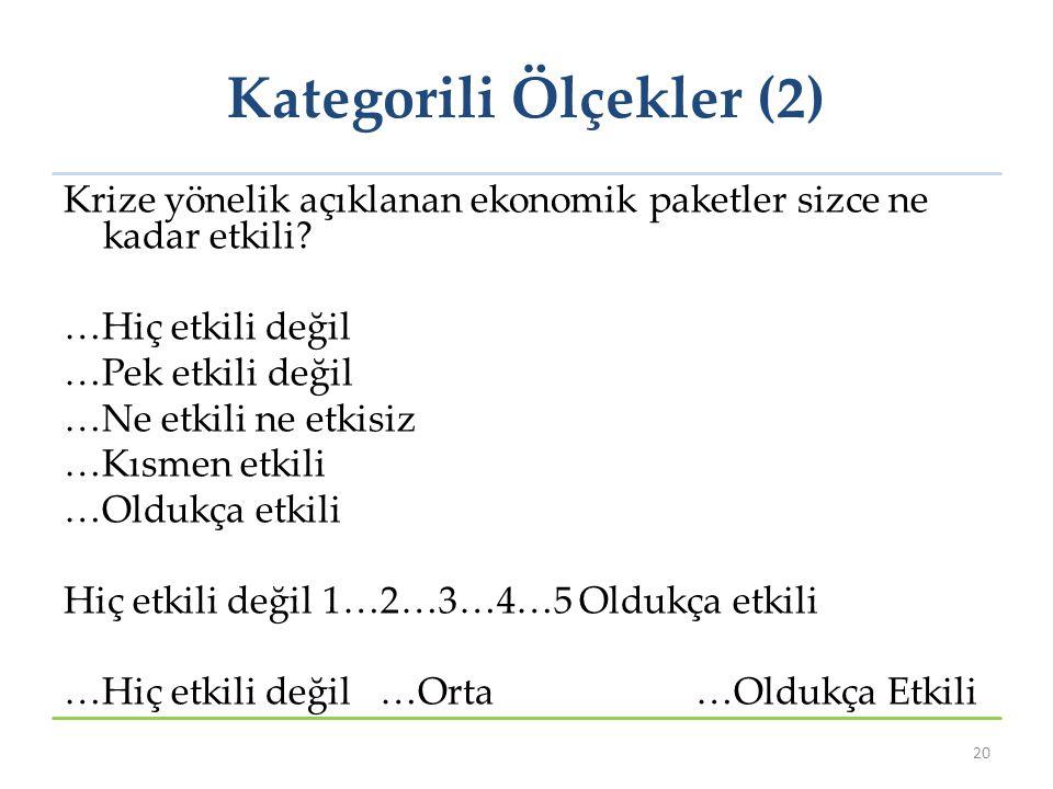 Kategorili Ölçekler (2)