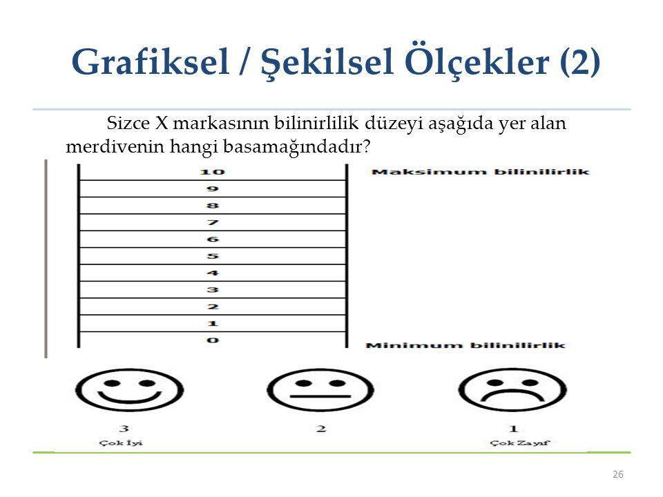 Grafiksel / Şekilsel Ölçekler (2)