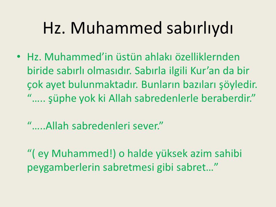 Hz. Muhammed sabırlıydı