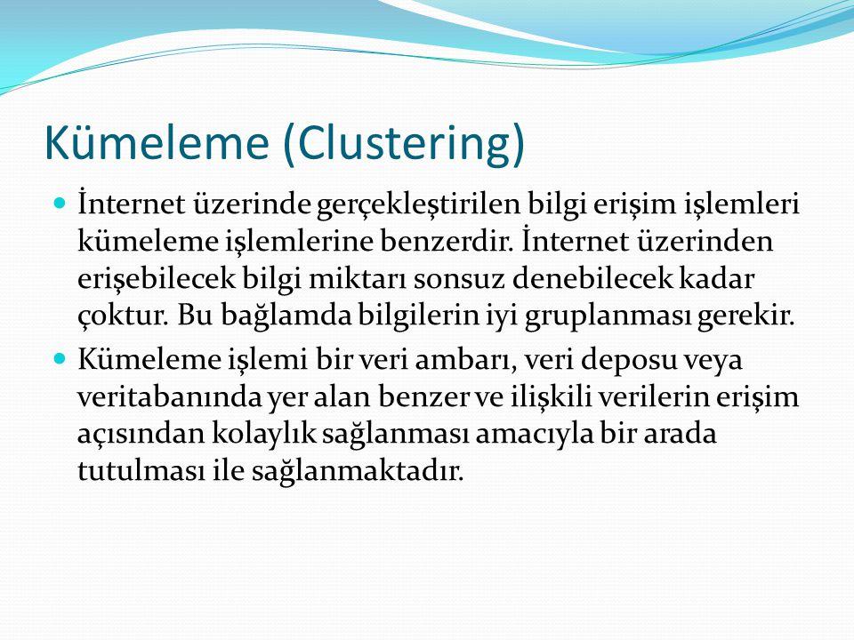 Kümeleme (Clustering)