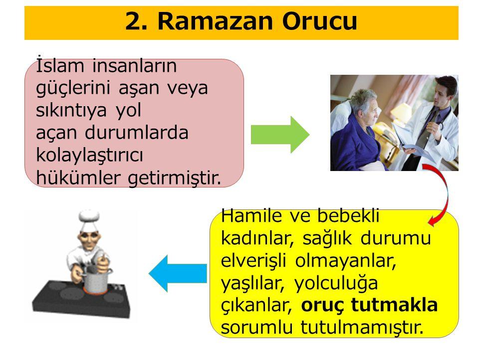 2. Ramazan Orucu İslam insanların güçlerini aşan veya sıkıntıya yol