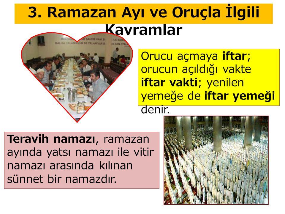 3. Ramazan Ayı ve Oruçla İlgili Kavramlar