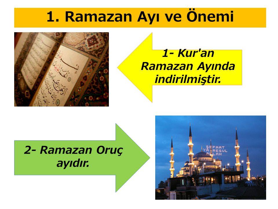 1- Kur an Ramazan Ayında indirilmiştir.