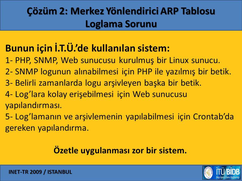 Çözüm 2: Merkez Yönlendirici ARP Tablosu Loglama Sorunu