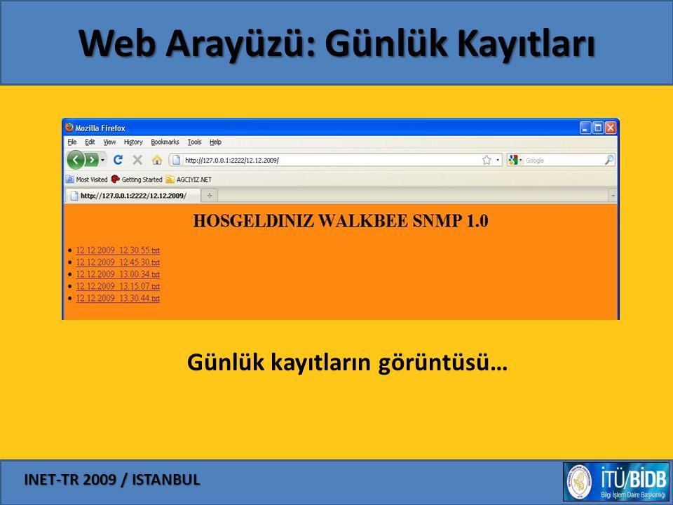 Web Arayüzü: Günlük Kayıtları
